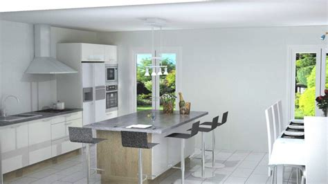 cuisine schmidt merignac cuisine avec ilot central n 233 o blanc brillant cuisiniste