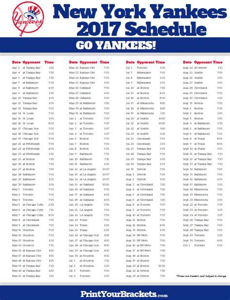 new york yankees printable schedule autos post