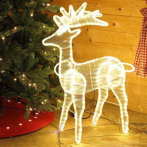 Weihnachtsdeko Garten Beleuchtet by Weihnachtsfigur Rentier Beleuchtet In Warmwei 223 F 252 R