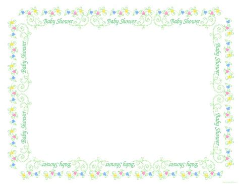 Baby Shower Frame by The Pillow Free Weekly Printable Digital
