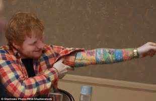 ed sheeran tattoo jumper ed sheeran confesses he has galway grill tattoo wstale com