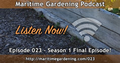 Gardening Podcast by Maritimegardening A Free Audio Podcast For Maritime