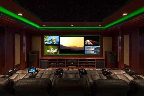 best color for media room awesome media room with 5 screens theater seating and cool lighting electronic house