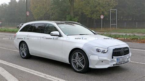 2020 Mercedes E Class by 2020 Mercedes E Class Wagon Spied Dressed In White