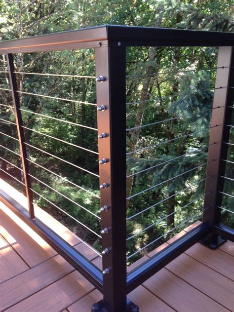 stainless steel cable railing deck masters llc portland or