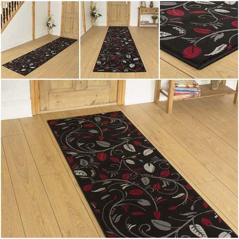 scroll black hallway carpet runner rug mat for