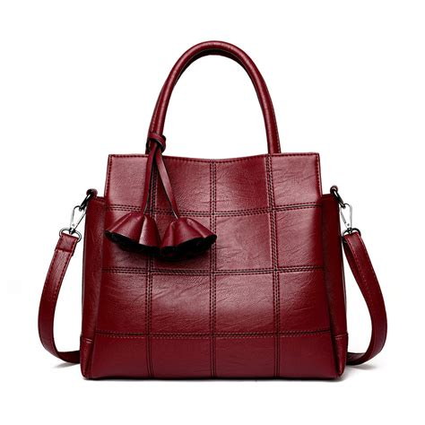 Plaid Bag luxury vintage plaid bags high quality leather