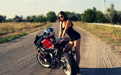 hot and sexy girls on stylish bike hd wallpaper images pixhome