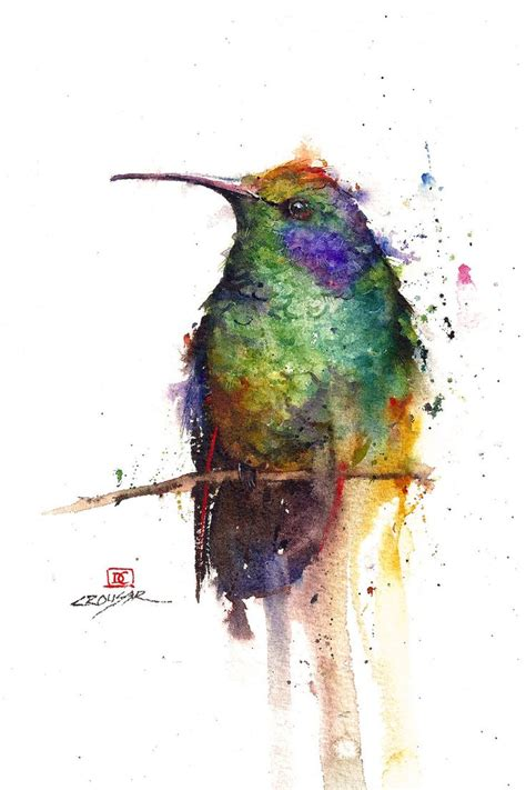 watercolor bird tattoo hummingbird watercolor bird print by dean crouser