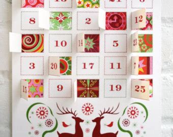 Advent Calendar Template Pdf Advent Calendars Etsy