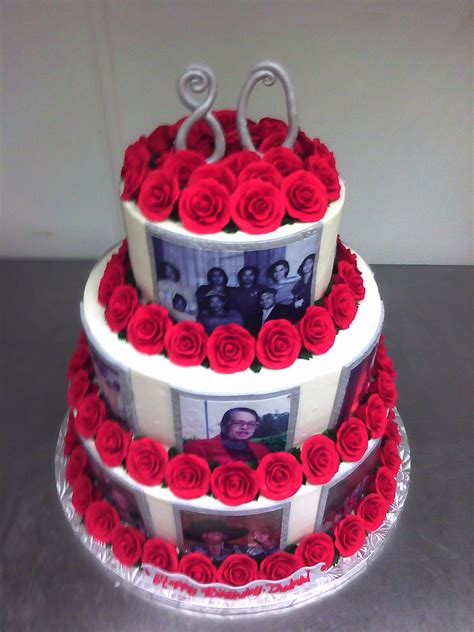 rosey  birthday photo cake main  custom cakes