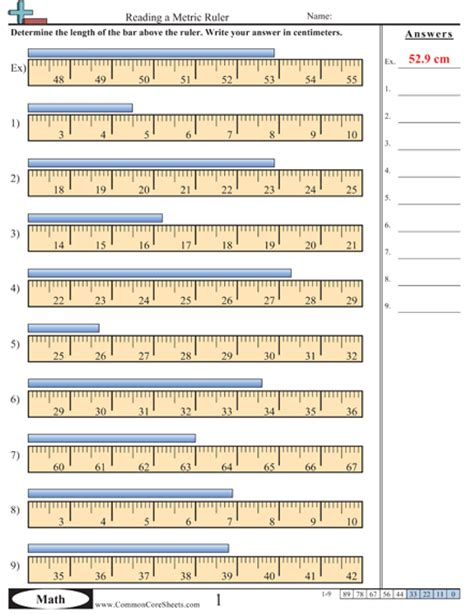 printable ruler quiz worksheet e more measurement worksheet activities