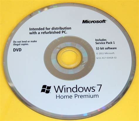 microsoft windows 7 home premium 32 bit sp1 version