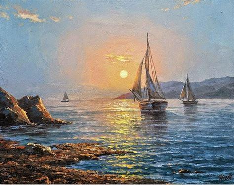 cuadros de marinas pintadas al oleo cuadros pintados al oleo de barcos marinas pinterest