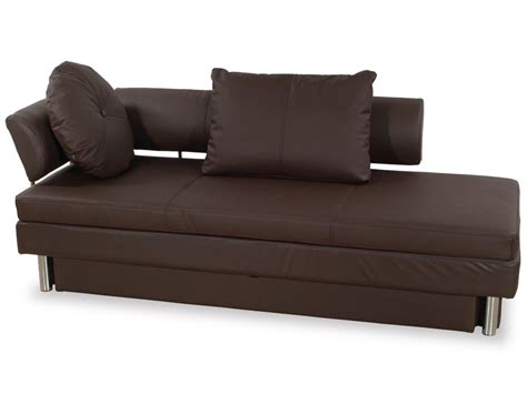 queen size sofa bed nubo brown leatherette queen size sofa bed by at home usa