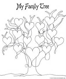 family tree template for pages printable family tree coloring home