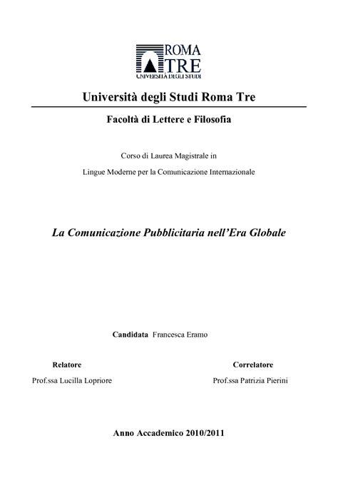 laurea magistrale in lettere moderne universit 224 degli studi roma tre facolt 224 di lettere e