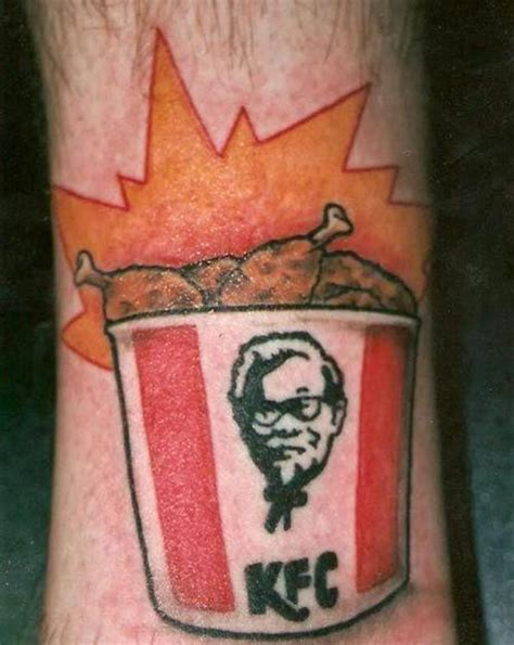 double down tattoo this kfc is actually pretty