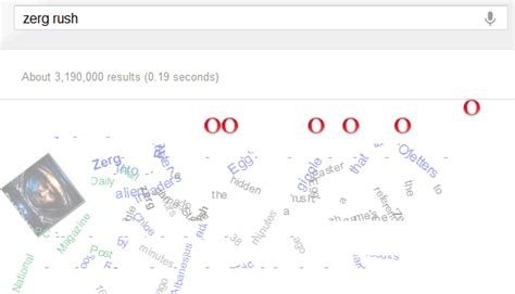google imagenes zerg rush google s zerg rush easter egg