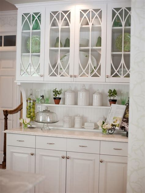 glass kitchen cabinet doors pictures ideas from hgtv hgtv built in white kitchen hutch with glass cabinet doors hgtv