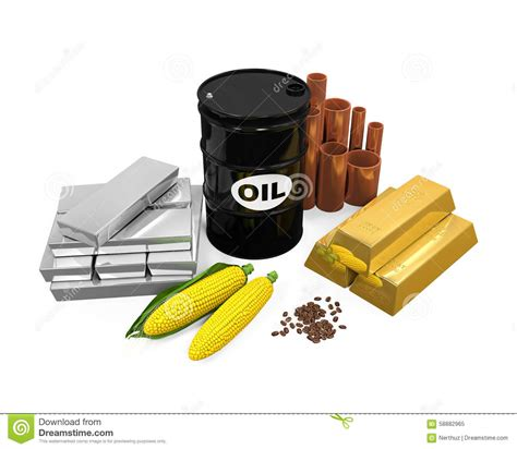 silver commodity commodities oil corn gold and silver royalty free