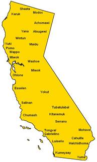 map of california tribes california tribes mapsof net