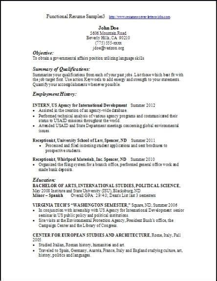 functional resume outline 28 images functional resume