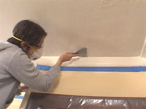 Tool For Scraping Popcorn Ceiling by Removing And Refinishing Your Popcorn Ceiling How To
