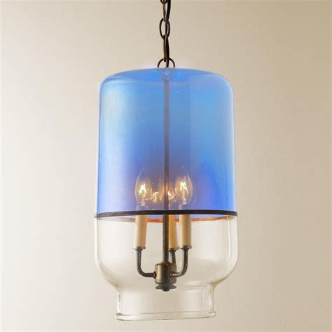 Recycled Pendant Lights Recycled Glass Canister Pendant Light