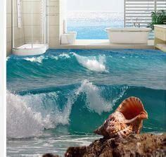 kustom foto wallpaper living room bedroom latar belakang wall decor large wallpaper window 3d beach seascape view wall