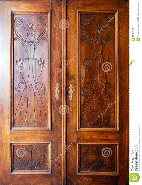 wooden closets with doors wooden closet doors stock photo image of cabinet material 18922132