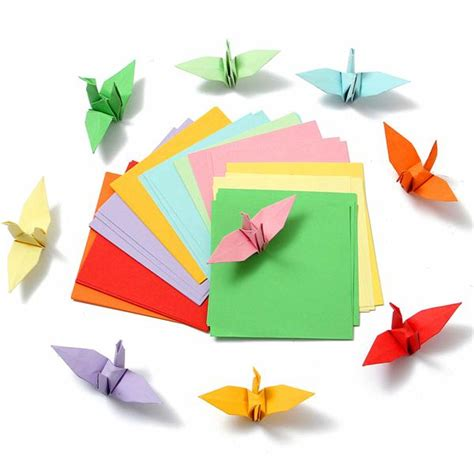 origami paper sided sided coloured paper crafts