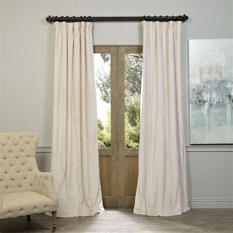 ivory velvet curtains exclusive fabrics signature ivory velvet blackout curtain