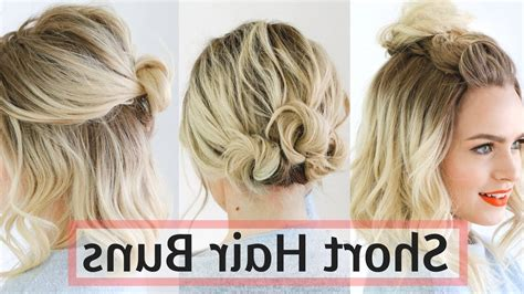Hairstyles For Medium Hair Tutorial by Bun Hairstyles For Hair Fade Haircut