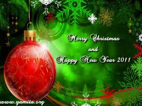 Christian wallpaper merry christmas and happy new year 2011