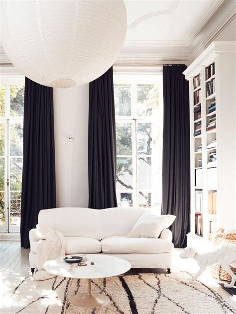 black and white living room curtains 25 best ideas about black curtains on