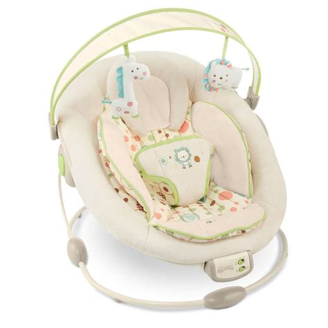 bright starts comfort and harmony sandstone bouncer