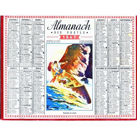 Calendrier De 1946 Calendrier Almanach Des Postes 1947