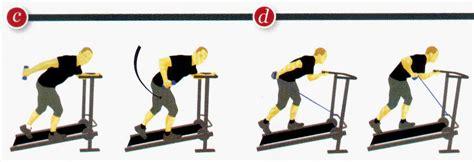 fare pesi a casa camminata in salita sul tapis roulant meccanico a casa ed