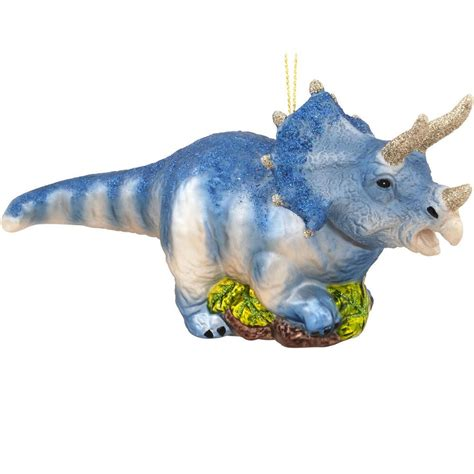 6 5 inch triceratops dinosaur glass ornament novelty