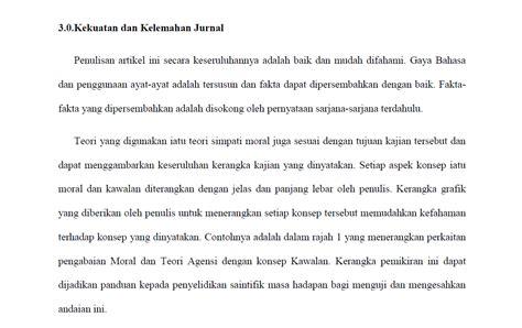 format ulasan artikel jurnal pusat rujukan pjj contoh tugasan ulasan jurnal etika
