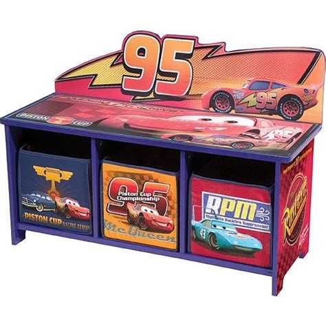 cars storage bench disney cars 3 bin toy storage bench new toddler room