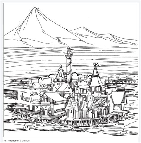 middle earth coloring pages tolkien s world a colouring book free pattern download