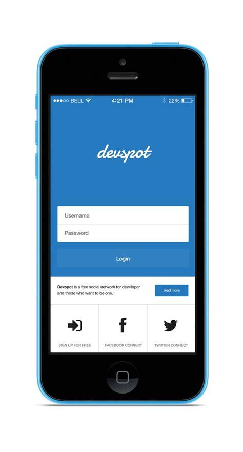 remodel app login screen flat material ui pinterest ios and