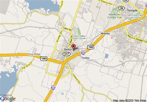 belton texas map map of river forest inn belton belton