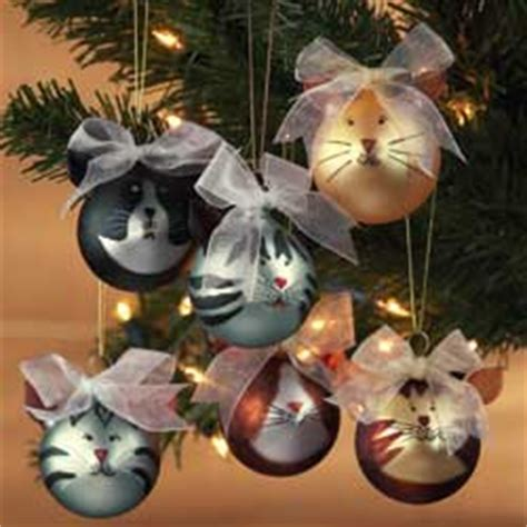 set of 6 cat baubles christmas decoration review