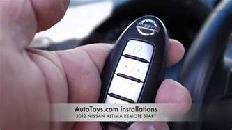 Nissan Altima Remote Start Nissan Altima 2012 Remote Start Push To Start Factory