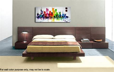 Wieco Art Cityscape Extra Large Colorful City 100 Hand | wieco art cityscape extra large colorful city 100 hand