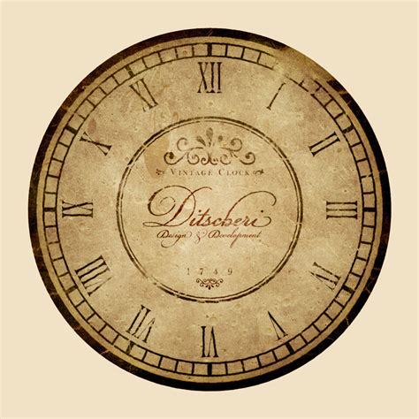 Design Clock by Design A Vintage Clock With Rusty Mechanics In Photoshop