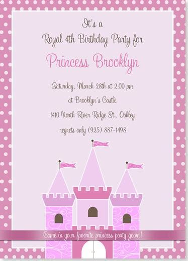 amazing princess birthday party invitations trends